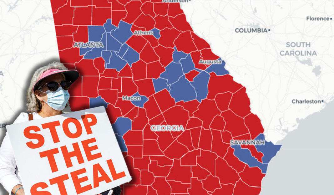 Stop the Steal - Voter fraud in Georgia.