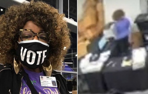 """The two women in the footage were identified as Ruby Freeman and elections supervisor Wandrea """"Shaye"""" Moss who is the mother of Freeman."""