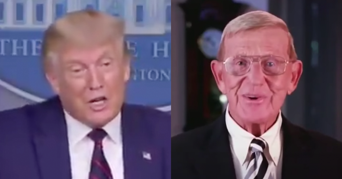 Trump awards Presidential Medal of Honor to Lou Holtz.