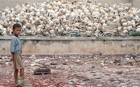 """The """"Killing Fields"""" of Pol Pot's Khmer Rouge in Cambodia from 1975 to 1979."""