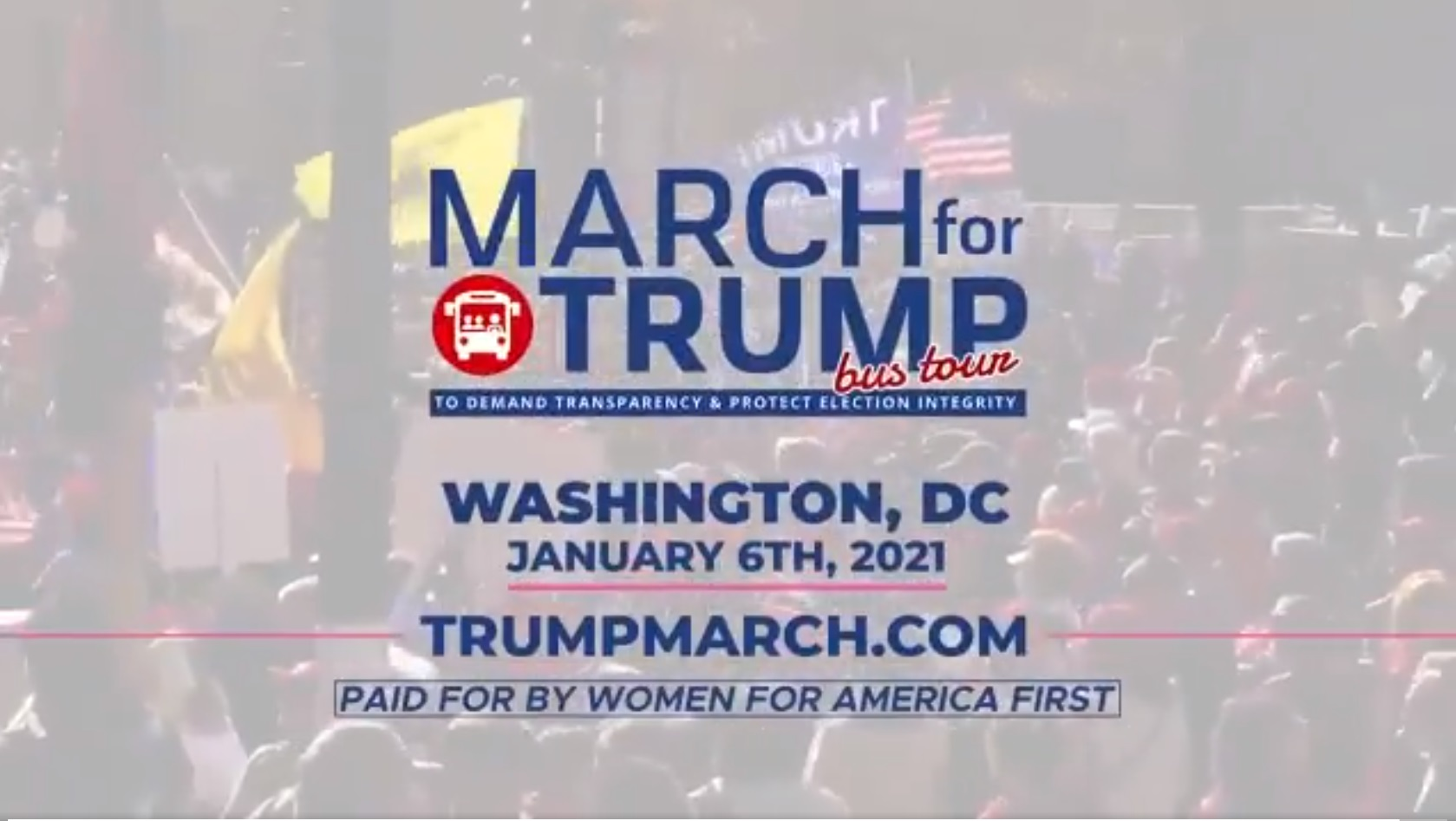 March for Trump - BE A PART OF HISTORY! January 6th - arrive by 9AM
