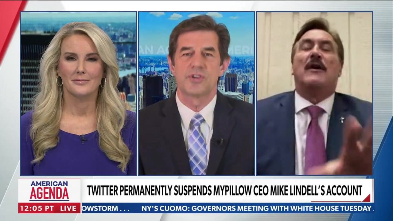 Newsmax anchor leaves interview with My Pillow's Mike Lindell