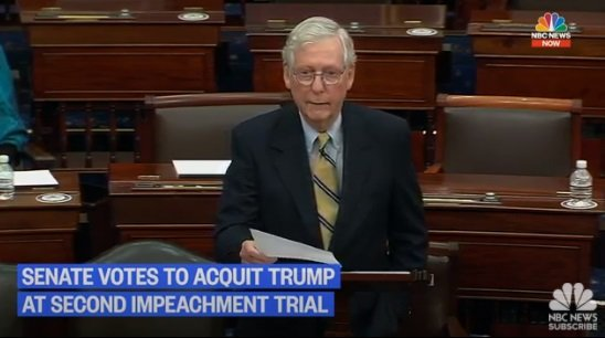 Snake: Mitch McConnell Uses Floor to Brutally Trash Trump Following Failed Impeachment Effort