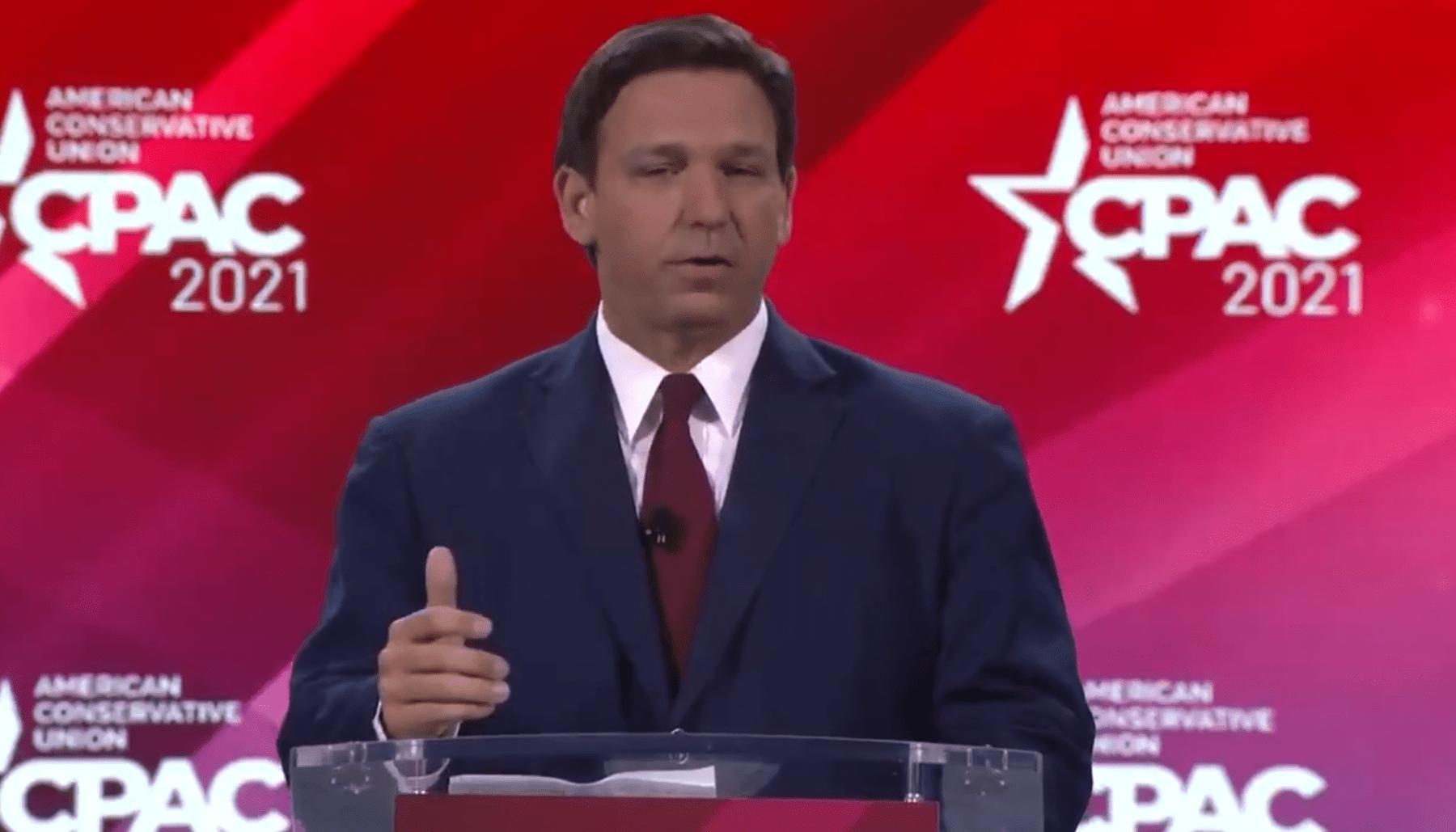 "DeSantis Opens Up CPAC Slamming The ""Failed Republican Establishment"""