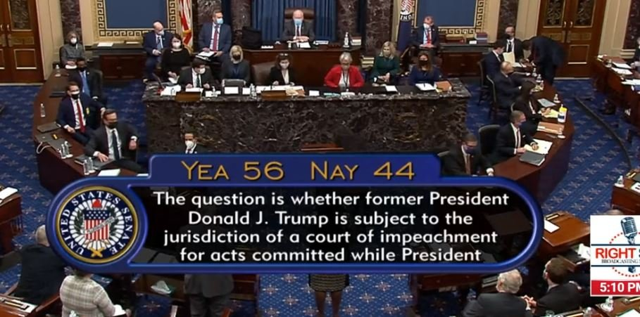 Senate Votes 56 to 44 to Proceed with Impeachment Trial of Private Citizen Donald J. Trump – 6 Republicans Join All Democrats in Vote