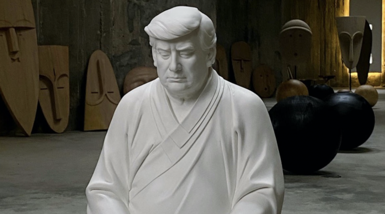 """14-Foot Tall """"Trump Buddha"""" Statues Are Selling Out in China for $614 USD"""