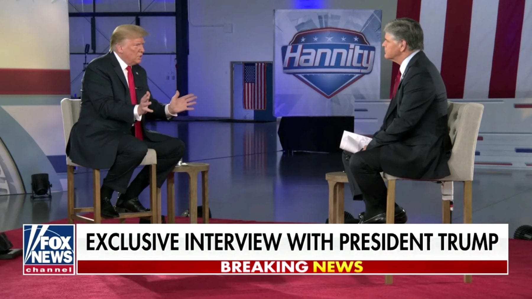 Trump is set to give his first on-camera sit-down interview since leaving office Monday.