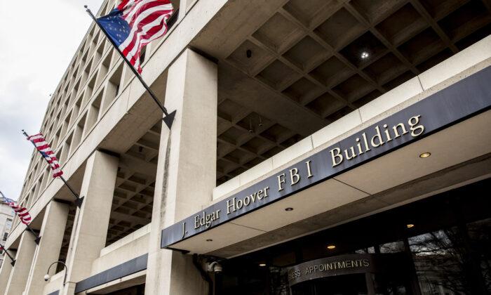 The Federal Bureau of Investigation (FBI) Headquarters in Washington on March 8, 2018. (Samira Bouaou/The Epoch Times)